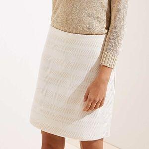 Loft Chevron Jacquard Knit Skirt XL